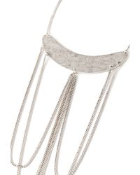 Forever 21 | Metallic Layered Chain Crescent Pendant Necklace | Lyst