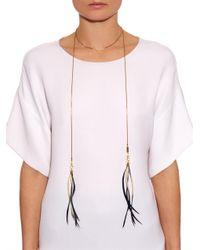 Isabel Marant - Black Hilly Wraparound Feather Necklace - Lyst