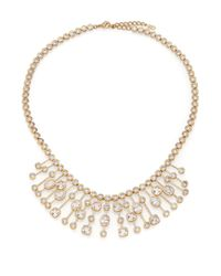 Adriana Orsini | Metallic Sway Mixed Bezel Statement Necklace | Lyst