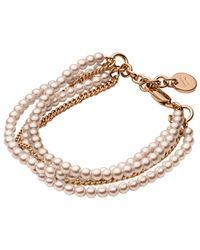 Dyrberg/Kern | Metallic Dyrberg/kern Magali Brass Bead Bracelet | Lyst
