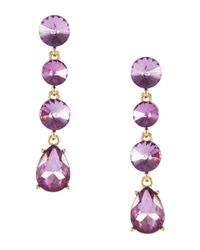 Catherine Stein | Purple Headlight Linear Earrings | Lyst