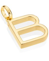 Monica Vinader | Metallic Gold-plated Alphabet Pendant B | Lyst