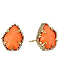 Kendra Scott | Orange Tessa Earring | Lyst