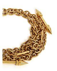 Ela Stone - Metallic 'Rocca' Arrow Spike Chain Necklace - Lyst