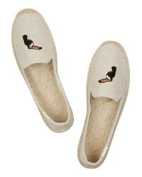 Soludos - Natural + Embroidered Canvas Espadrilles - Lyst