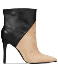 Charles by Charles David | Natural Pine Two-toned Booties | Lyst