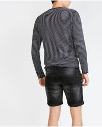 Zara | Black Denim Shorts for Men | Lyst