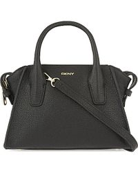 DKNY | Black Chelsea Mini Leather Satchel | Lyst
