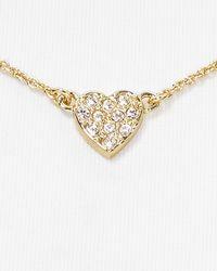 kate spade new york - Metallic Be Mine Pave Pendant Necklace 16 - Lyst