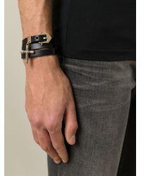 Givenchy | Black Crucifix Charm Bracelet | Lyst