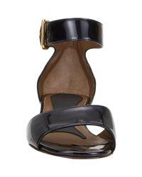 Marni - Black Patent Ankle-Strap Sandals - Lyst