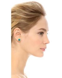 Rebecca Minkoff - Blue Mix Matched Oval Earrings - Gold/Turquoise - Lyst