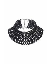 TOPSHOP | Black Beaded Necklace | Lyst