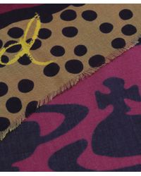 Vivienne Westwood - Purple Abstract Multi Print Scarf - Lyst