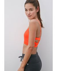 Forever 21 - Pink Medium Impact - Caged Back Sports Bra - Lyst