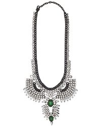 DANNIJO - Green Izzie Necklace - Lyst