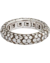 Sidney Garber - Metallic Diamond & White Gold Flexible Ring - Lyst