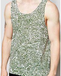 Native Youth   Green Leaf Print Vest for Men   Lyst