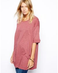 ASOS | Red Oversized Tshirt | Lyst