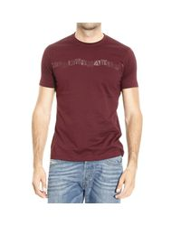 Emporio Armani - Purple T-shirt for Men - Lyst