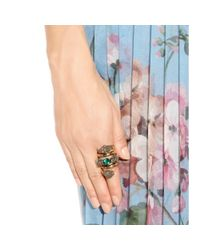 Gucci | Gray Embellished Ring | Lyst
