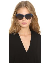 Fendi | Color Top Sunglasses - Blue Havana Gold/grey Gradient | Lyst
