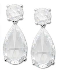 Arabella | Metallic Swarovski Zirconia Drop Earrings (37-1/10 Ct. T.w.) | Lyst