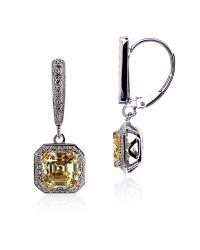 Carat* | Metallic Fancy Yellow Petite Asscher Drop Earrings | Lyst