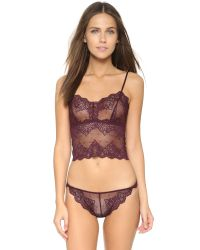 Only Hearts - Purple So Fine Lace Thong - Wine - Lyst
