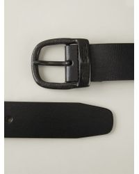 DIESEL - Black 'Bawre' Belt for Men - Lyst