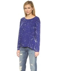 Generation Love - Wendy Oversized Paint Sweater - Dazzling Blue - Lyst