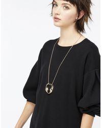 Accessorize - Metallic Textured Twist Long Pendant Necklace - Lyst