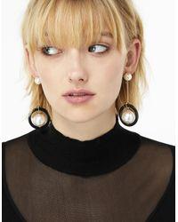 Accessorize - Metallic Blare Pearl Earrings - Lyst