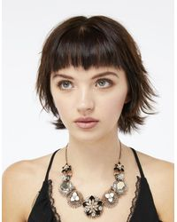 Accessorize - Black Eliza Statement Necklace - Lyst