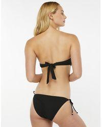 Accessorize - Black Lily Lace Flower Bandeau Bikini Top - Lyst