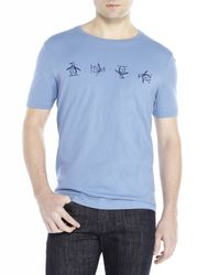 Original Penguin - Blue Tumbling Short Sleeve Tee for Men - Lyst