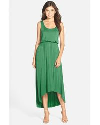 Felicity & Coco | Green High/low Hem Jersey Tank Dress | Lyst