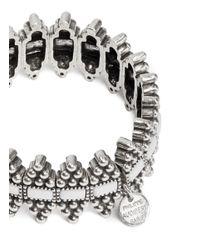Philippe Audibert - Metallic 'sabine' Metal Bead Rhinestone Bracelet - Lyst