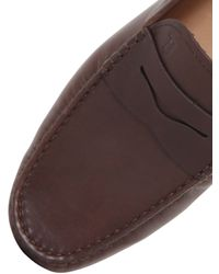 Tod's   Brown Gommino 122 Tie Suede Driving Shoes for Men   Lyst
