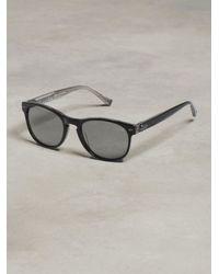 John Varvatos | Black Retro Sunglass With Guitar Head Detail for Men | Lyst