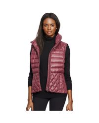 Ralph Lauren - Red Mockneck Down Vest - Lyst