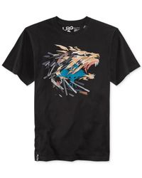 LRG - Black Big And Tall Paper Lion T-Shirt for Men - Lyst