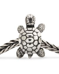 Trollbeads | Metallic African Tortoise Sterling Silver Charm Bead | Lyst