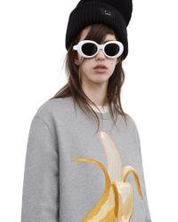 Acne Studios - Gray Carly Banana grey Melange - Lyst