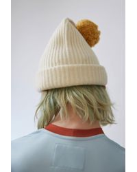 Acne - Multicolor Beanie Hat ecru - Lyst