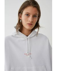 Acne - Oversize Hoodie optic White - Lyst