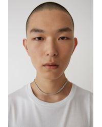 Acne - Basic T-shirt optic White for Men - Lyst