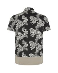 Moncler - Black Hawaiian Polo Shirt for Men - Lyst