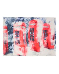 Lily and Lionel | Red Phone Box Silk-blend Scarf | Lyst