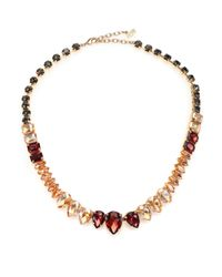 ABS By Allen Schwartz | Metallic Some Like It Hot Faceted Stone Necklace | Lyst